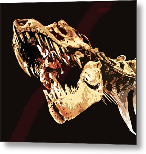 Natural History- T Rex Metal Print
