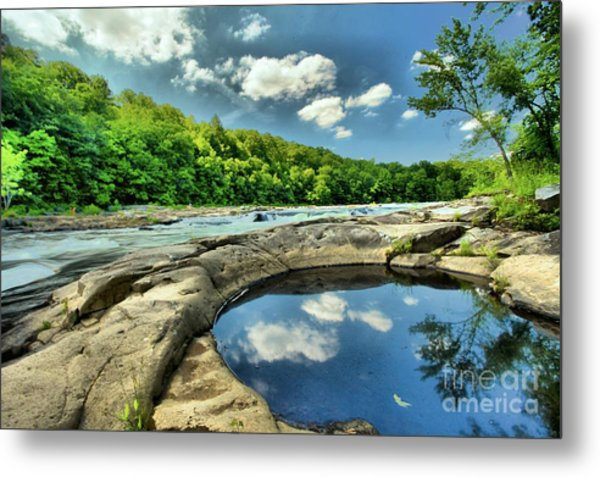 Natural Swimming Pool Metal Print