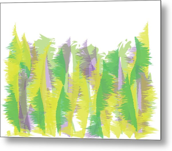 Metal Print featuring the digital art Nature - Abstract by Cristina Stefan