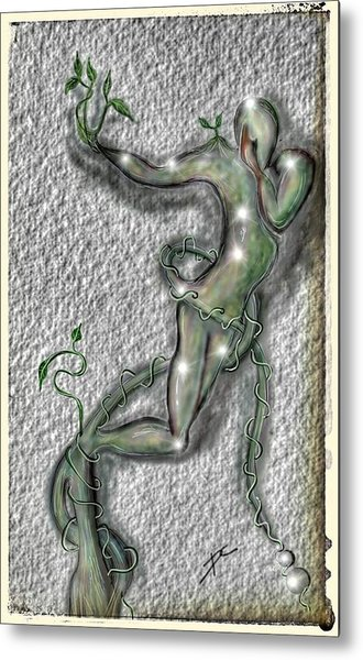 Metal Print featuring the digital art Nature And Man by Darren Cannell