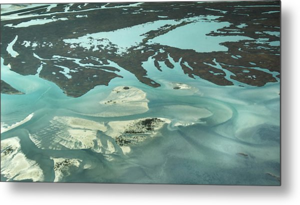 Natures Art On Barnegat Bay Metal Print