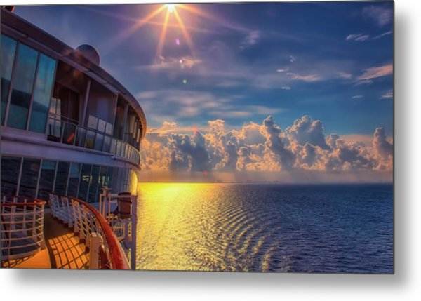 Natures Beauty At Sea Metal Print