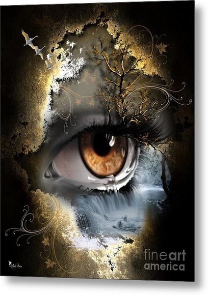 Natures Eye Metal Print