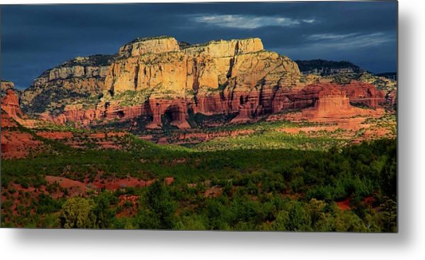 Nature's Spotlight, Sedona, Arizona Metal Print