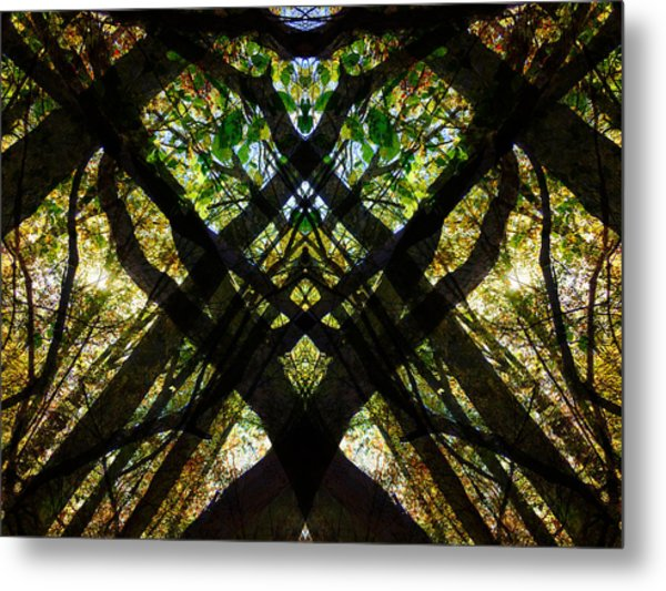 Natures Stain Glass Metal Print