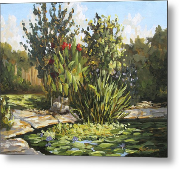 Natures Water Garden Metal Print