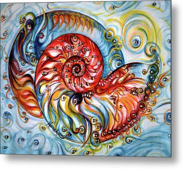 Nautilus Shell - Ocean Metal Print