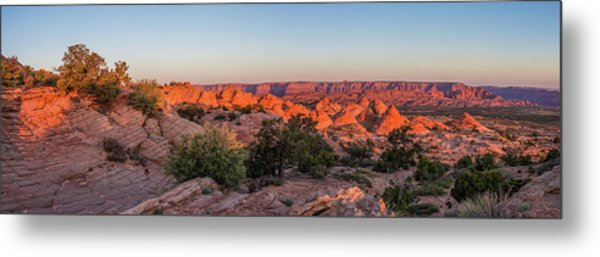 Navajo Land Morning Splendor Metal Print