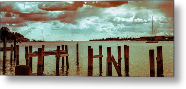 Metal Print featuring the photograph Naval Academy Sailing School by T Brian Jones