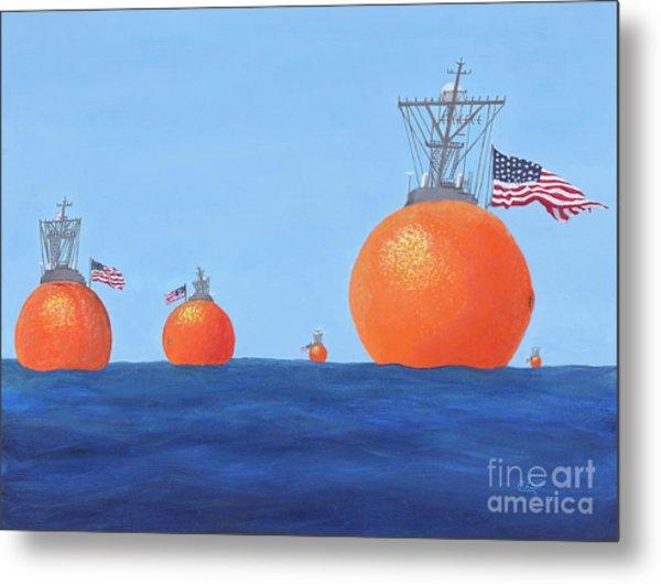 Naval Oranges Metal Print