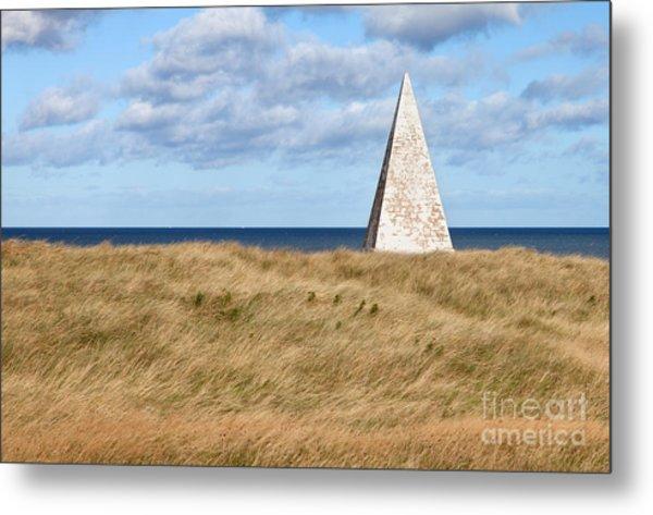 Navigation Daymark - Lindisfarne Metal Print by Bryan Attewell