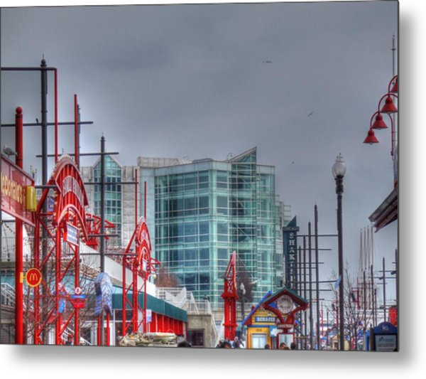 Navy Pier Metal Print by Barry R Jones Jr