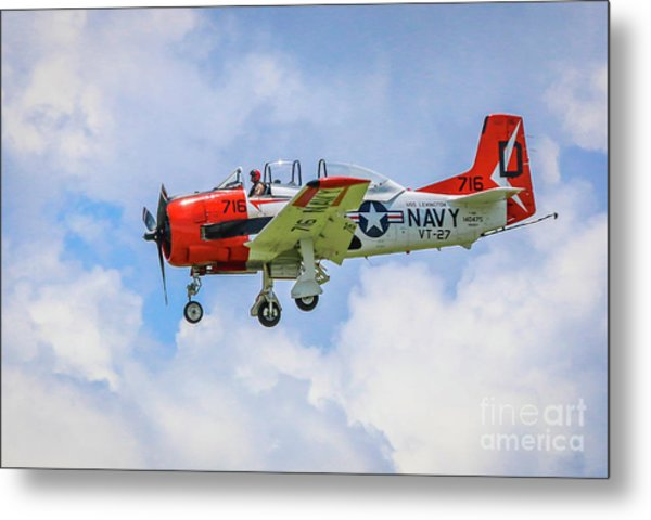 Metal Print featuring the photograph Navy Trainer #2 by Tom Claud