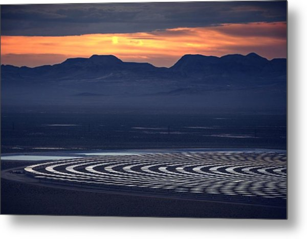 Nay For Fossil Fuel. Yea For Renewable Energy Metal Print