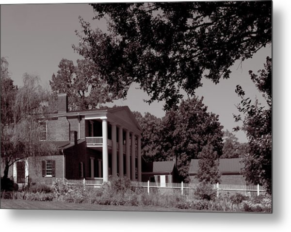 Metal Print featuring the photograph Near The House - The Hermitage by James L Bartlett