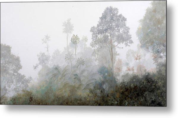 Nebbia Nella Foresta Metal Print