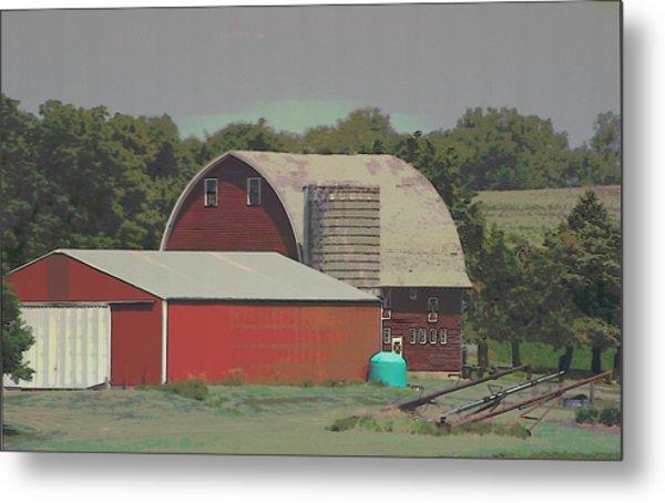 Nebraska Farm Life - The Family Farm Metal Print