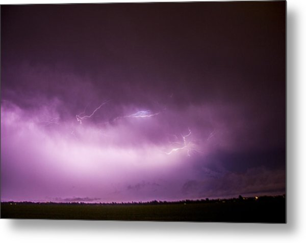 Nebraska Night Thunderstorms 013 Metal Print