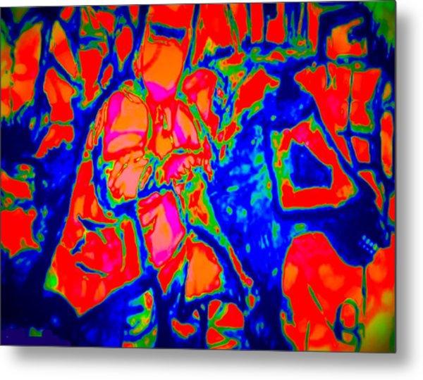 Ned Kellt Gang Art - Blue Seeya Metal Print by J Kamaru