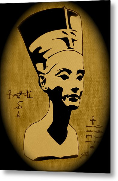 Nefertiti Egyptian Queen Metal Print