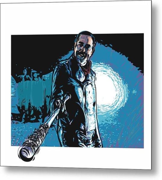 Metal Print featuring the digital art Negan by Antonio Romero