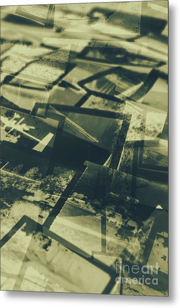 Negative Photos In Dark Room Metal Print