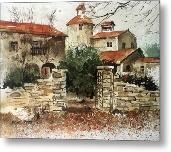 Neighbors Gate Metal Print