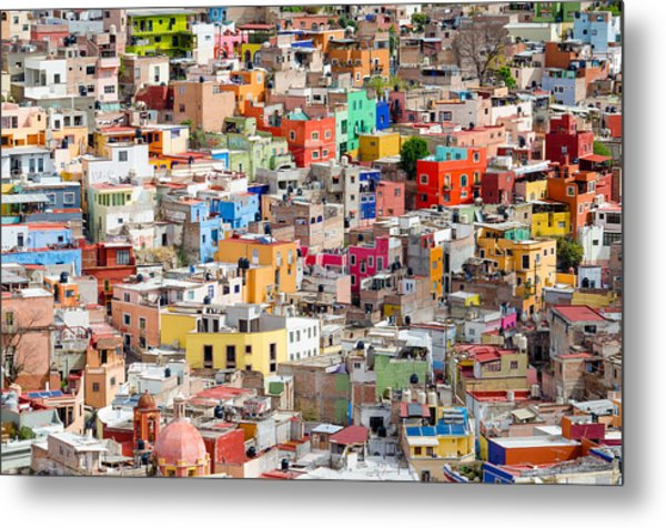Metal Print featuring the photograph Neighbourhood. Guanajuato Mexico. by Rob Huntley