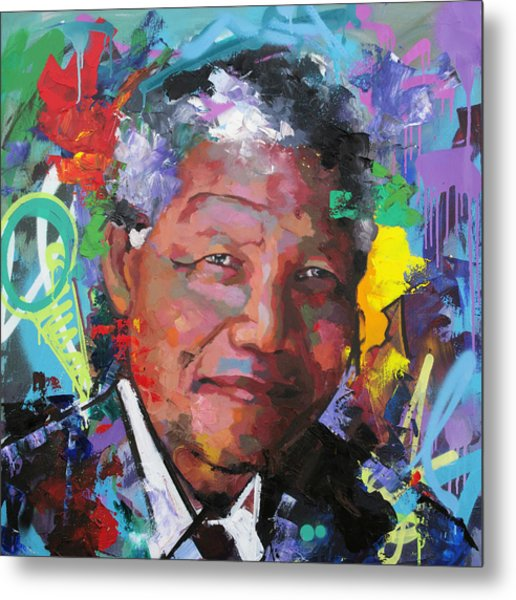 Nelson Mandela Vi Metal Print