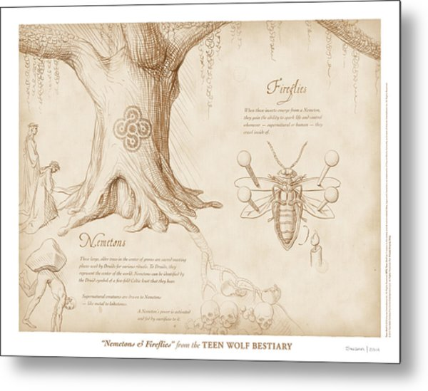 Nemetons And Fireflies Metal Print