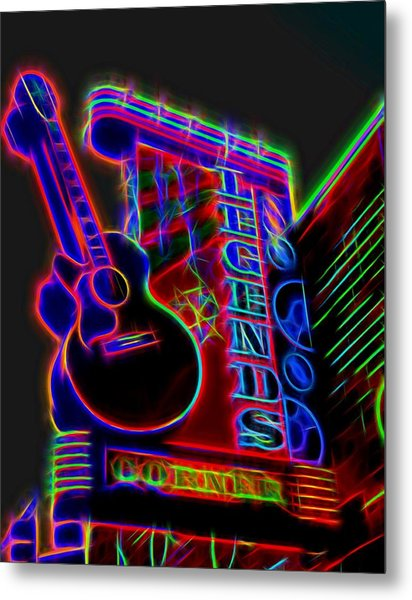 Neon Legends Corner Nashville Metal Print