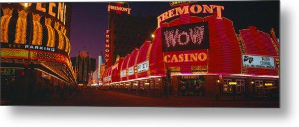 Neon Lights At Las Vegas, Nevada Metal Print