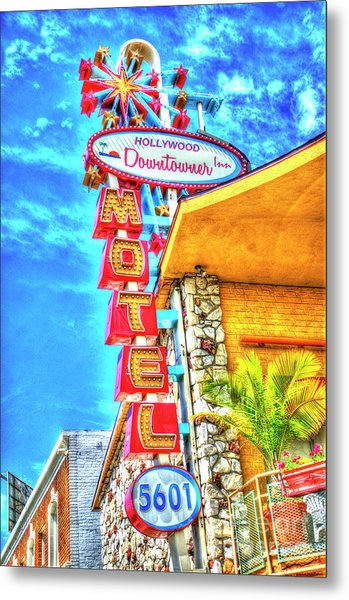 Neon Motel Sign Metal Print