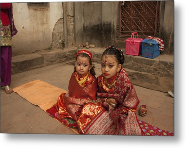 Nepalese Tradition Metal Print