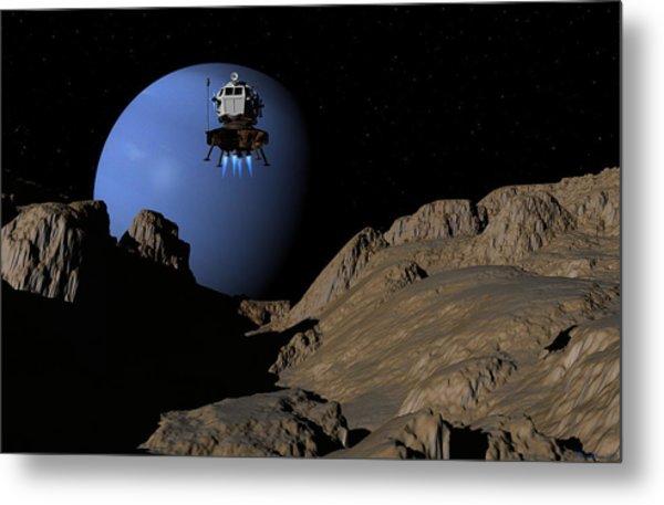 Neptunes Moon Proteus Metal Print