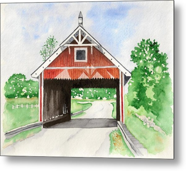 Netcher Road Bridge Metal Print by Laurie Anderson