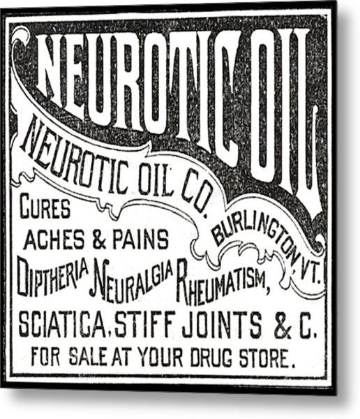 Neurotic Vintage Ad Metal Print