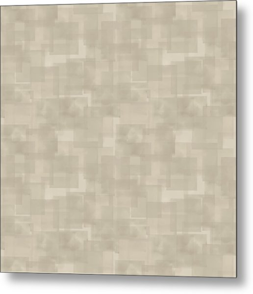Neutral Brown Abstract Pattern Metal Print