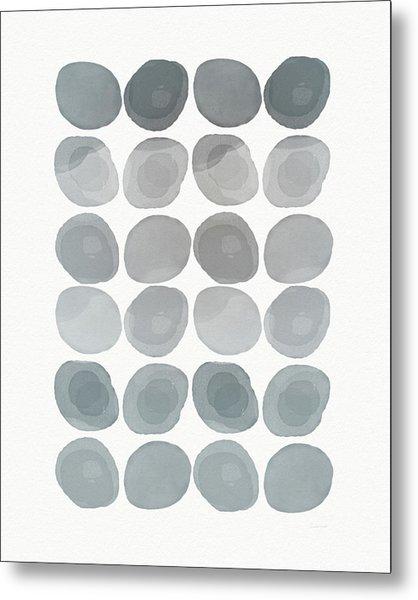 Neutral Stones- Art By Linda Woods Metal Print