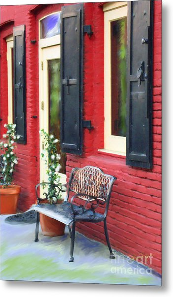 Nevada City Bench Metal Print