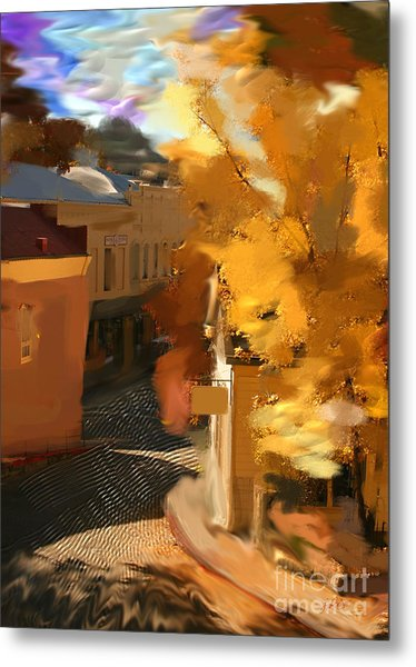 Nevada City In Fall Metal Print