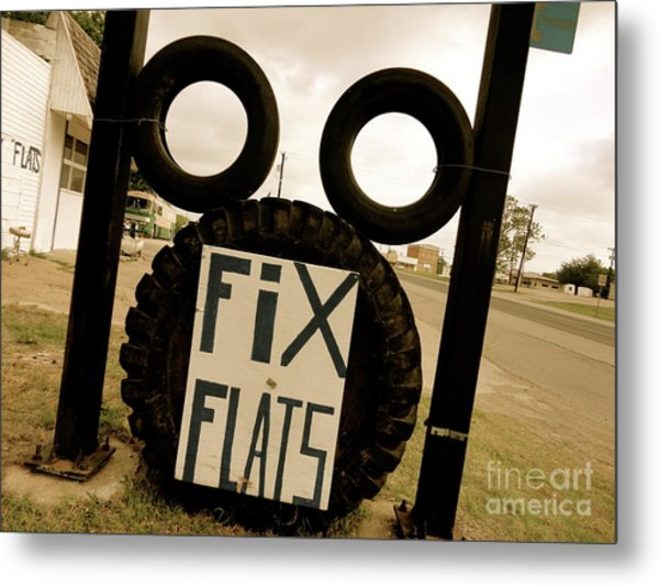 Never Tire Of Tire Art Metal Print by Chuck Taylor