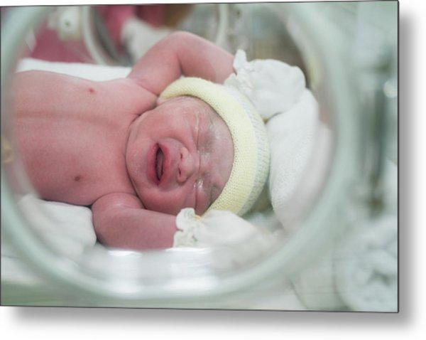 New Born Baby In Hospiatal Metal Print