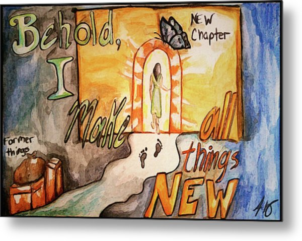 New Chapter Metal Print
