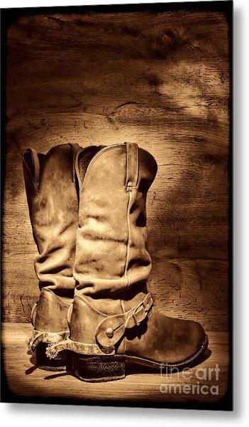 New Cowboy Boots Metal Print