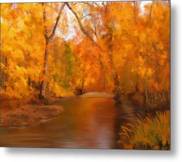 New England Autumn In The Woods Metal Print