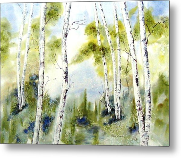 New England Birches Metal Print