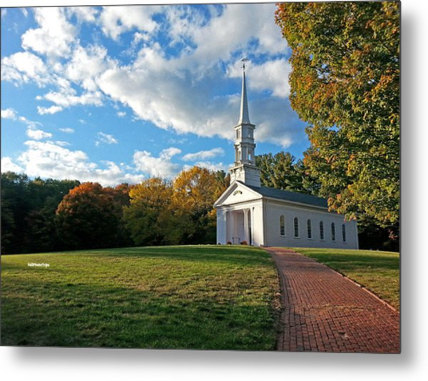 New England Church Metal Print