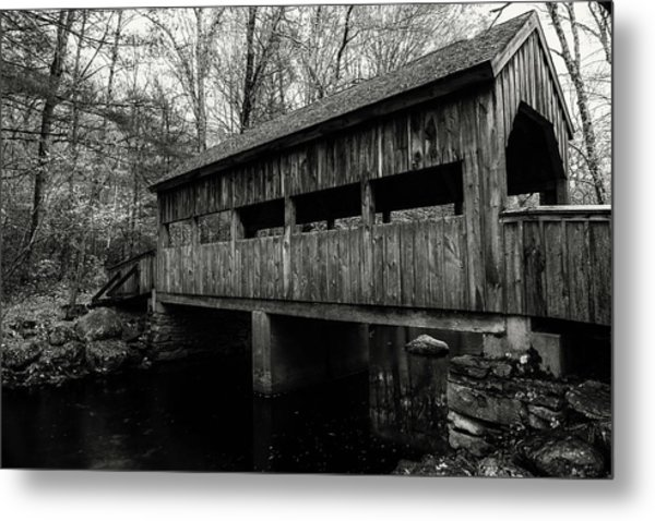 New England Covered Bridge Metal Print