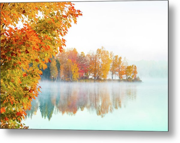 New England Fall Colors Of Maine Metal Print